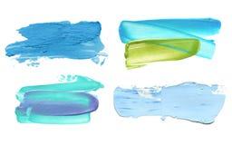 Colpo acrilico astratto della spazzola di colore Isolato Fotografia Stock Libera da Diritti