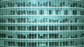 Colpo aereo aumentante di un grattacielo moderno generico dell'ufficio video d archivio