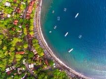 Colpo aereo dell'isola di Bali fotografie stock libere da diritti