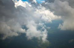 Colpo aereo delle nuvole in cielo Fotografia Stock