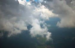 Colpo aereo delle nuvole in cielo Fotografia Stock Libera da Diritti
