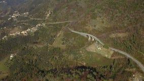 Colpo aereo di bella vista dell'Italia stock footage