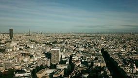 Colpo aereo di Parigi che comprende la torre Eiffel, Francia Fotografie Stock Libere da Diritti