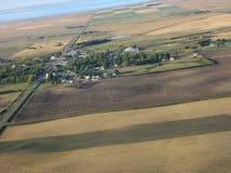 Colpo aereo di Saskatchewan Fotografia Stock Libera da Diritti