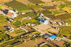 Colpo aereo laterale Ecuador del paese Immagini Stock