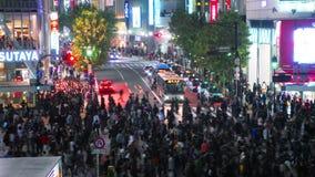 Colpo al rallentatore dell'incrocio di strada principale di Shibuya video d archivio