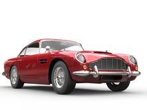 Colpo automobilistico d'annata rosso fresco dello studio di bellezza illustrazione vettoriale
