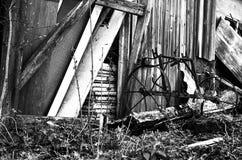 Colpo in bianco e nero di vecchio granaio immagini stock