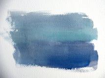 Colpo blu della spazzola Immagini Stock Libere da Diritti