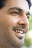 Colpo capo di sorridere dell'uomo Fotografia Stock