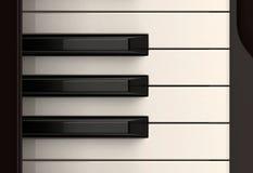 Colpo classico del primo piano della tastiera di piano Fotografia Stock