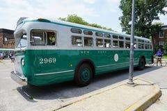 Colpo d'annata 1 del bus del museo di transito di New York Fotografia Stock