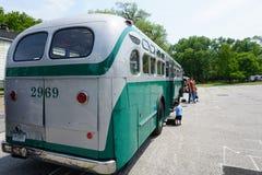 Colpo d'annata 5 del bus del museo di transito di New York Immagine Stock Libera da Diritti