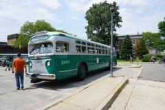 Colpo d'annata 6 del bus del museo di transito di New York Immagini Stock Libere da Diritti