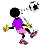 Colpo da gioco del calcio royalty illustrazione gratis