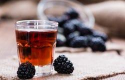 Colpo del liquore di Blackberry Fotografia Stock Libera da Diritti