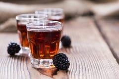 Colpo del liquore di Blackberry Fotografie Stock