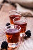 Colpo del liquore di Blackberry Fotografia Stock