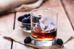 Colpo del liquore di Blackberry Fotografie Stock Libere da Diritti