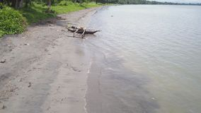 Colpo del litorale e della spiaggia video d archivio