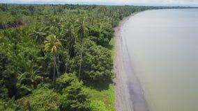 Colpo del litorale e della spiaggia stock footage