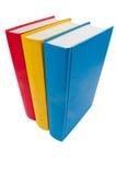 Colpo del primo piano della pila di libri Fotografia Stock