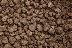 Colpo del primo piano di struttura del suolo, sporcizia coltivata, terra, terra, Br immagini stock