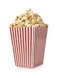 Colpo del verticle del popcorn di film Fotografia Stock