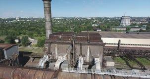 Colpo dell'antenna della pianta dell'industria metalmeccanica stock footage