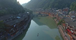 Colpo dell'antenna di Fenghuang stock footage