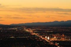 Città di Las Vegas alla notte Immagine Stock