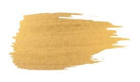 Colpo della spazzola di struttura dell'acquerello dell'oro immagini stock libere da diritti