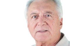 Colpo della testa dell'uomo senior Fotografie Stock Libere da Diritti