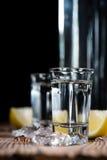 Colpo della vodka Immagini Stock