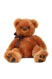 Colpo dello studio del giocattolo dell'orso isolato su bianco Fotografia Stock