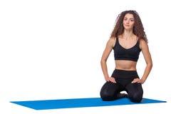 Colpo dello studio di giovane donna di misura dopo yoga Fotografia Stock Libera da Diritti