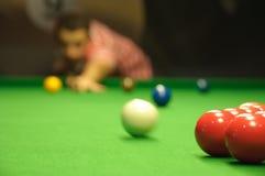 Colpo di apertura dello snooker Fotografia Stock Libera da Diritti