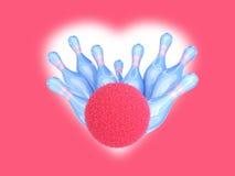 Colpo di colpi della sfera di bowling royalty illustrazione gratis