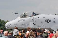 Colpo di fulmine del U.S.A.F.A-10 Fotografie Stock Libere da Diritti