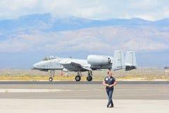 A-10 colpo di fulmine II su esposizione Fotografia Stock Libera da Diritti