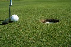 Colpo di golf Fotografie Stock Libere da Diritti