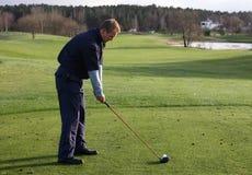 colpo di golf Immagine Stock