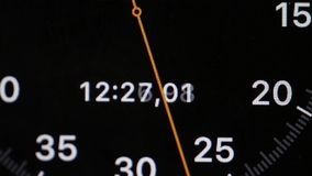 Colpo di macro del cronometro di Digital illustrazione di stock