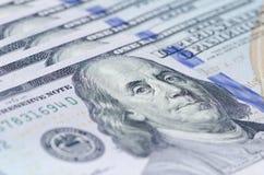 Colpo di macro di 100 USD Fotografia Stock