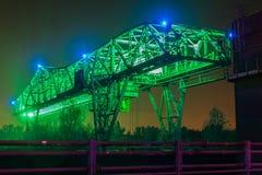 Colpo di notte di Duisburg Fotografia Stock