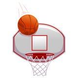 Colpo di pallacanestro sull'anello illustrazione vettoriale