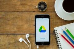 Colpo di schermo dell'applicazione dell'azionamento di Google Fotografia Stock Libera da Diritti
