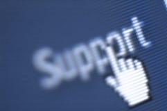 Colpo di schermo di sostegno Fotografie Stock