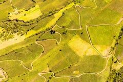 Colpo ecuadoriano dell'antenna del terreno coltivabile Fotografie Stock Libere da Diritti