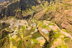 Colpo ecuadoriano dell'antenna del terreno coltivabile Fotografie Stock